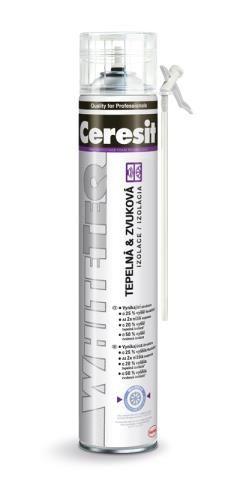 bíla montážní PU pěna CERESIT WhiteTeq 750ml (trubičková)