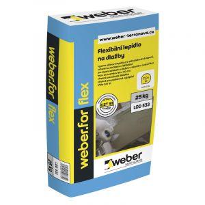 Weber.for flex Lepící tmel 25kg (C2TE S1)