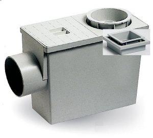 """ITADECO Okapová vpusť s bočním odtokem - ,, geiger """" 80/110mm čtverc."""