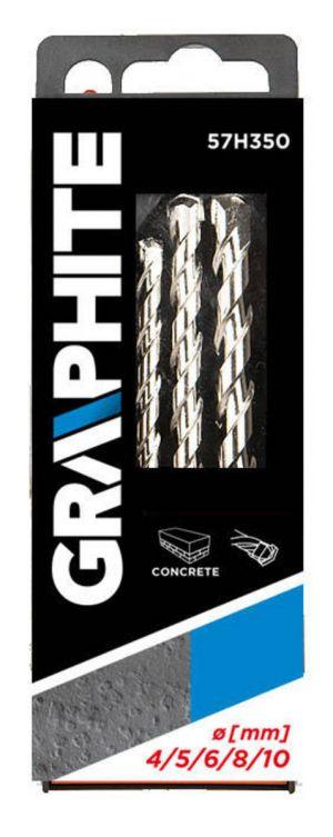 GRAPHITE sada vrtáku do betonu  4-10mm